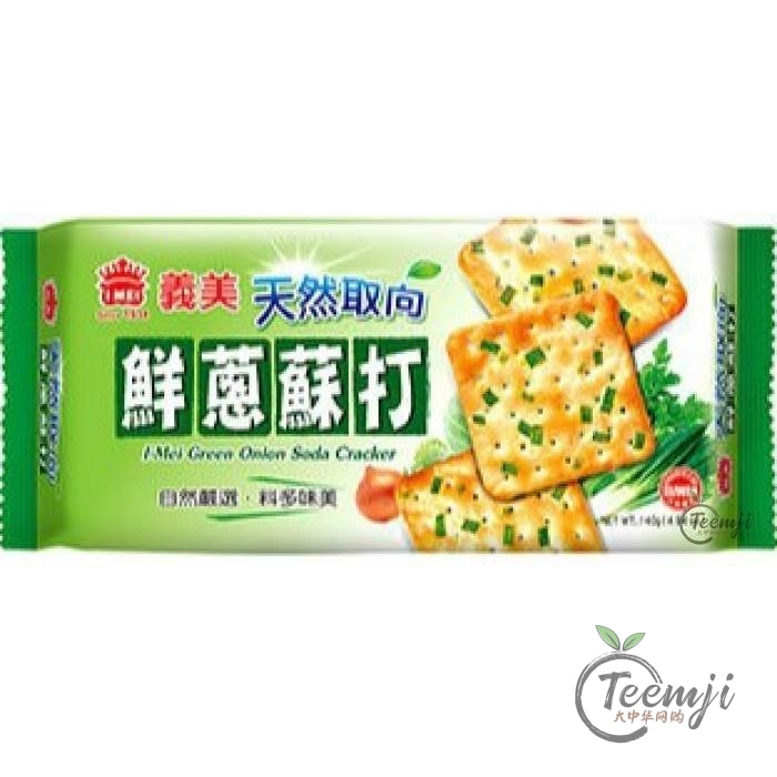 Imei Green Onion Soda Cracker 140G Snacks