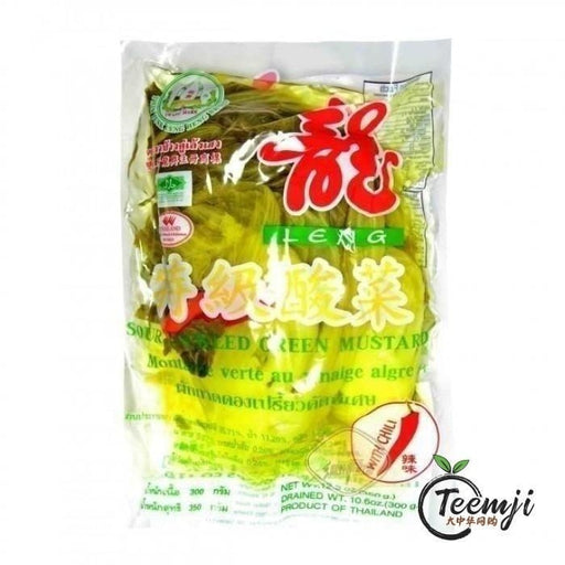 Leng Sour Pickled Green Mustard With Chilli 350G Preserved