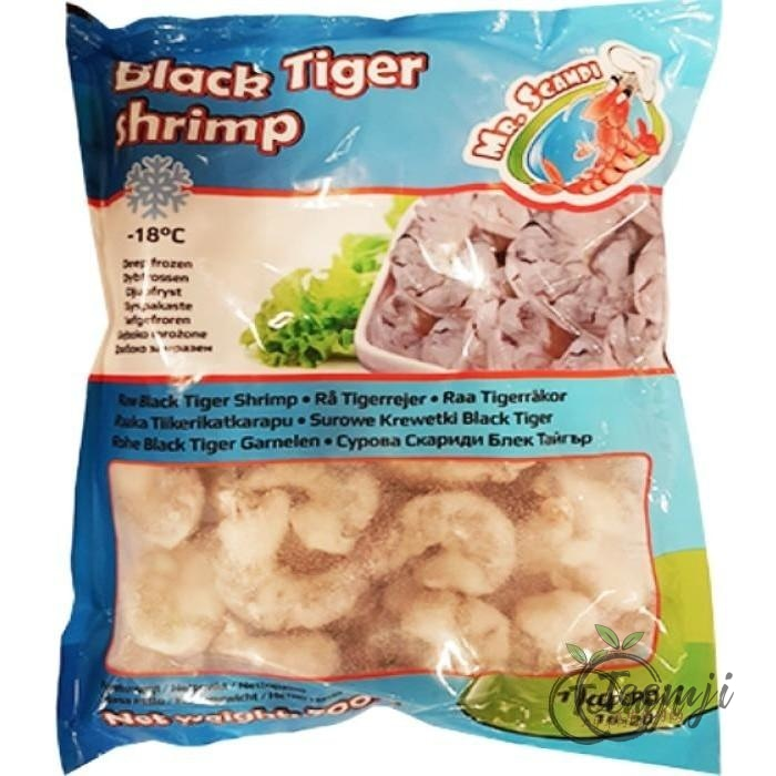 Mr. Scampi Black Tiger Shrimp 16/20 700G Frozen Seafood