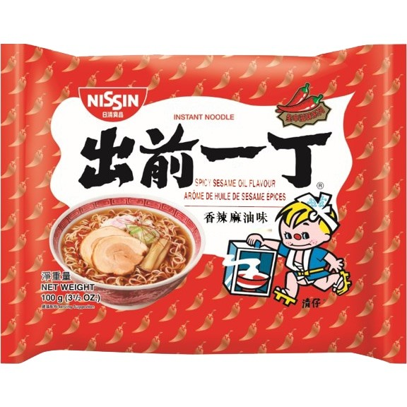 Nissin Noodle with Spicy Sesam Oil Flavour 出前一丁香辣麻油味面 100g