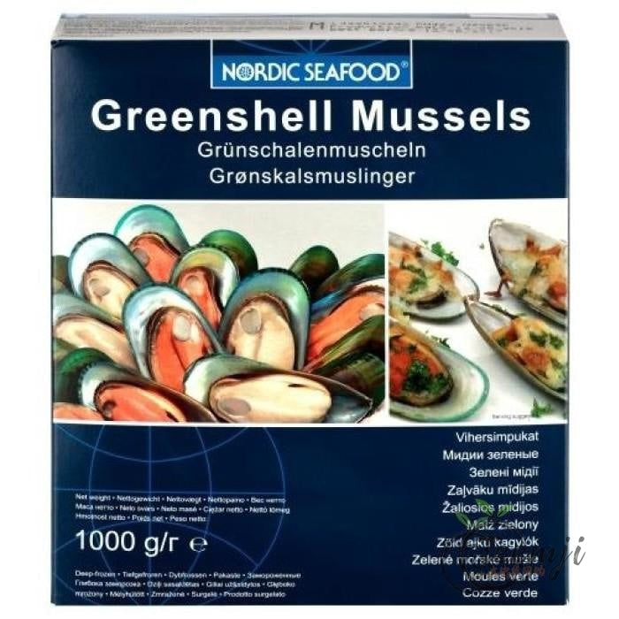 Nordic Seafood Greenshell Mussels 1Kg Frozen