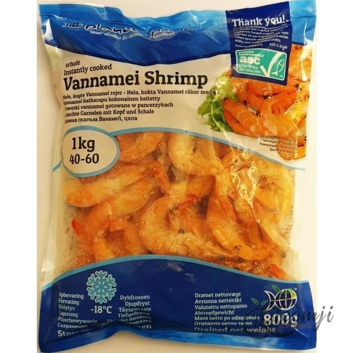 Planets Pride Cooked Vannamei Shrimps 800G Frozen Seafood
