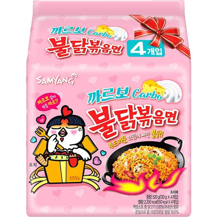 "Samyang Hot Chicken ""Carbo"" Ramen 130g x 5 Pack 三养火鸡面意式白酱风味"