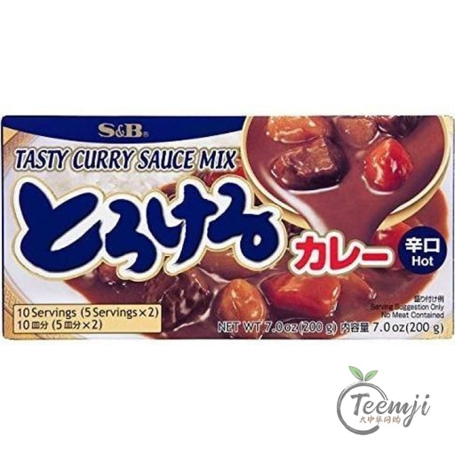 S&b Tasty Curry Mix Hot 200G Paste