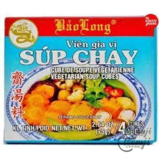 Bao Long Sup Chay Vegetarian Soup Cubes 75G Spices