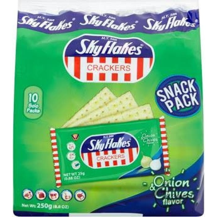 Sky Flakes Crackers Onion Chives Flavor 250G Snacks