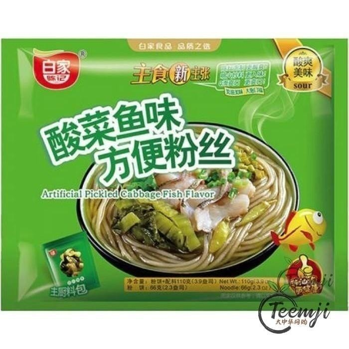 Baijia Pickled Cabbage Fish Flavor Instant Vermicelli 110G Noodle