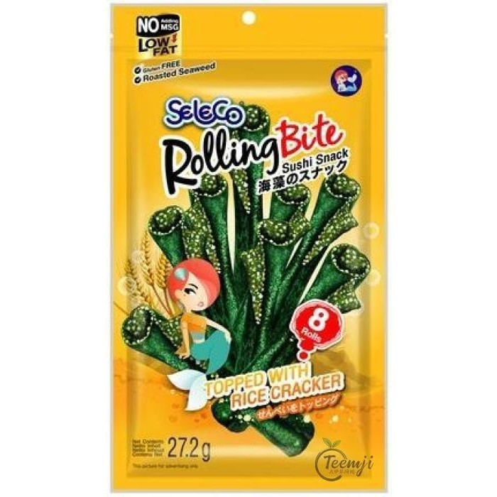 Seleco Rolling Bite Seaweed Snack Topped With Rice Cracker 27.2G Snacks