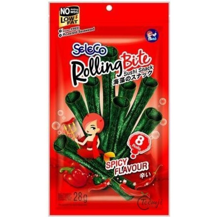 Seleco Rolling Bite Seaweed Snack Spicy Flavour 28G Snacks