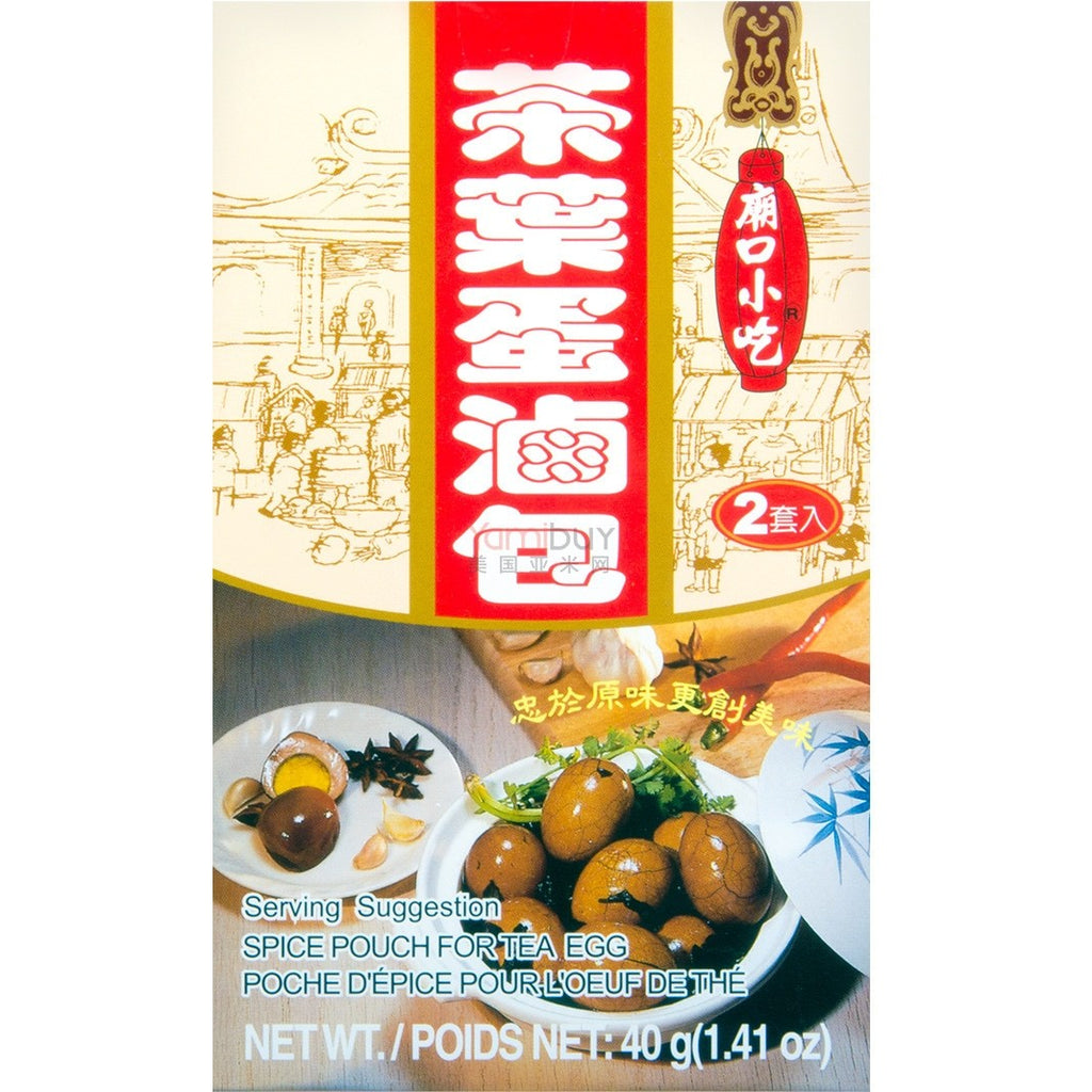 Tomax Mixed spice pouch for Tea egg 庙口小吃茶叶蛋卤包 2包入 40g