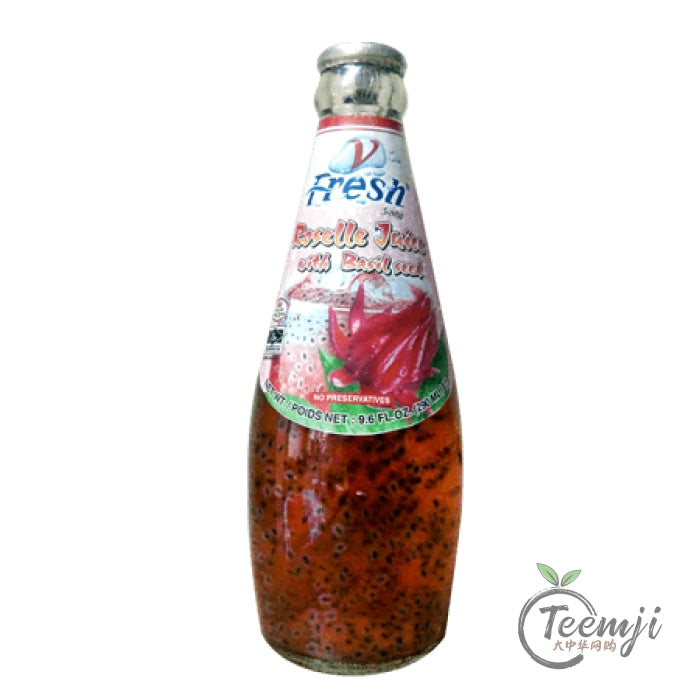 V-Fresh Roselle Juice With Basil Seed 290Ml Drink