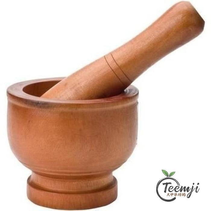 Vy Quan Brand Wooden Mortar & Pestle (11 5 Cm) 1Set Rice/dried