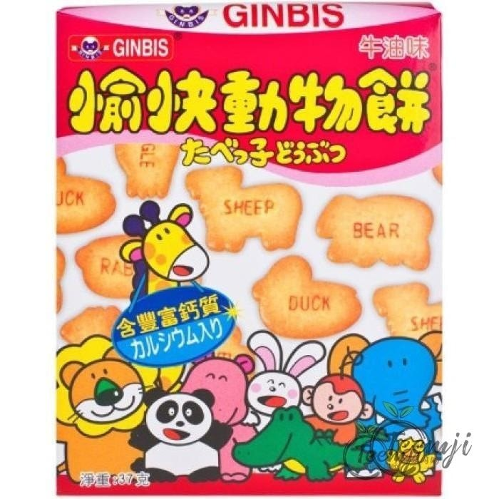 Ginbis Dream Animals Butter Flavoured Biscuit 37G Snacks