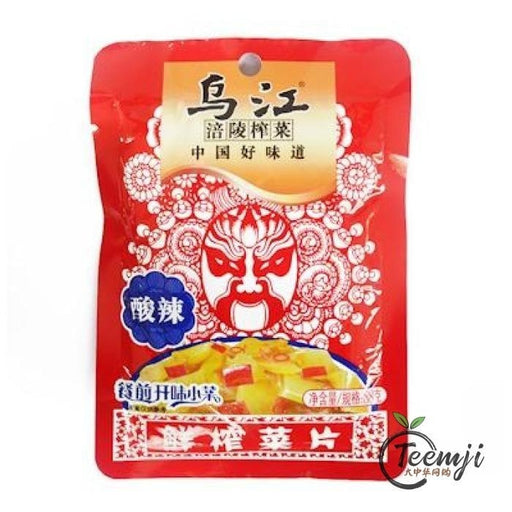 Wujiang Preserved Vegetable Slice Sour & Spicy Flavour 80G