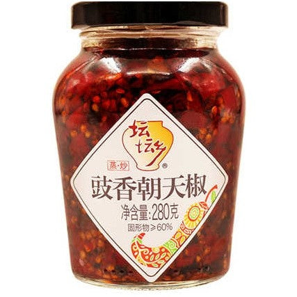 TanTanXiang Pickled Chilli with Black Fermented Beans 坛坛香豉香朝天椒 280g