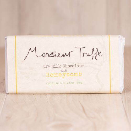 Monsieur Truffe 51% Milk Chocolate With Honeycomb - 100g