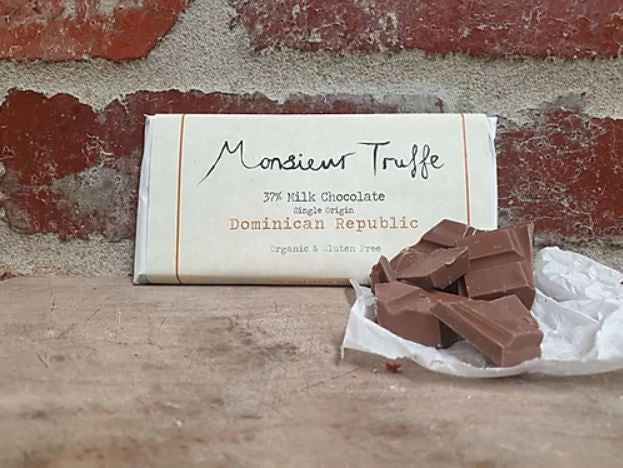 Monsieur Truffe 37% Milk Chocolate Dominican Republic - 80g