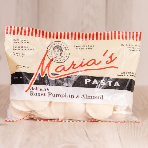 Roast Pumpkin & Almond Ravioli - 500g (frozen)