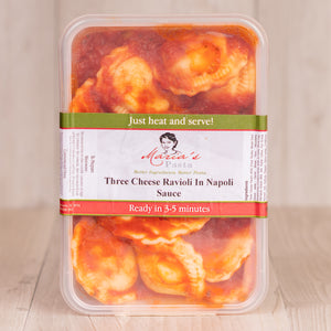 Three Cheese Ravioli in Napoli Sauce - 500g Ready Meal (fresh)