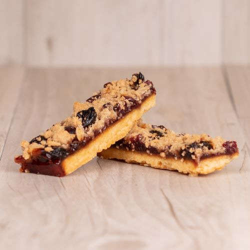 Madhouse Bakehouse Raspberry & Sour Cherry Crumble Slice