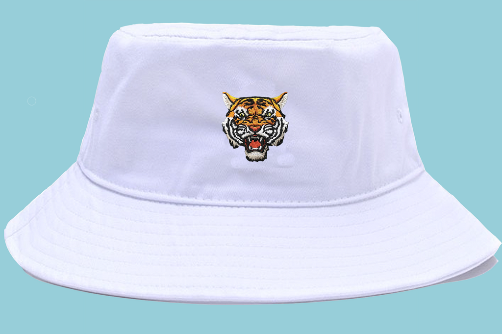Tiger Soul - White Bucket Hat - Tiger Soul Barcelona