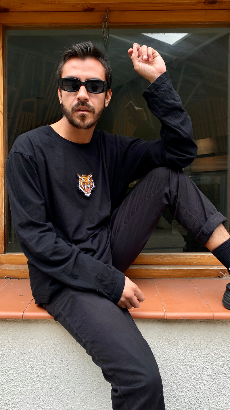 Tiger Soul -  Black T-shirt #2 Long Sleeve (Unisex) - Tiger Soul Barcelona