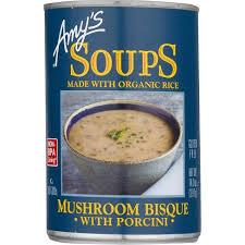 Amy's Mushroom Bisque Can