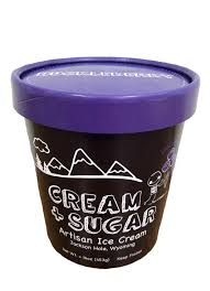 Cream & Sugar Huckleberry Ice Cream (pint)