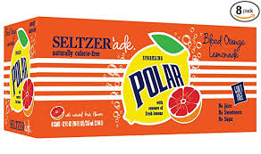 Polar Seltzer 'ade Blood Orange Lemonade (8 Pack cans)
