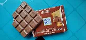 Ritter Sport Milk Chocolate with Butter Biscuit and Cocoa Creme