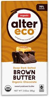 Alter Eco Brown Butter Dark Chocolate Bar 70% Cacao