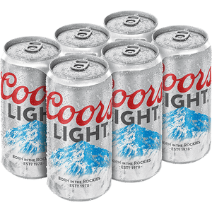 Coors Light (6 pack cans)