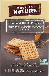 Back to Nature Cracked Pepper Whole Wheat Crackers