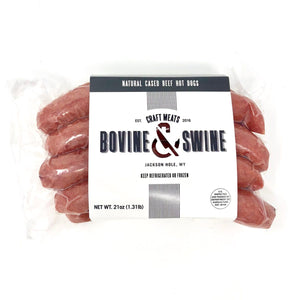 Bovine & Swine Natural Cased Beef Hot Dogs