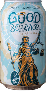 Odell Good Behavior Crushable IPA (6 pack cans)