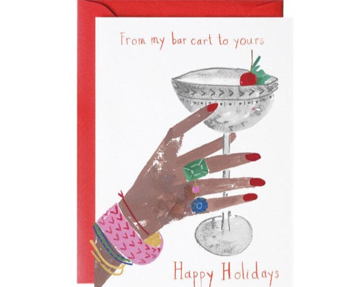 From My Bar Cart to Yours Holiday Greeting Card
