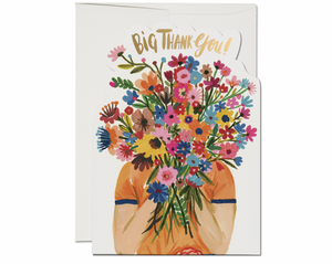 Face Full of Flowers Greeting Card