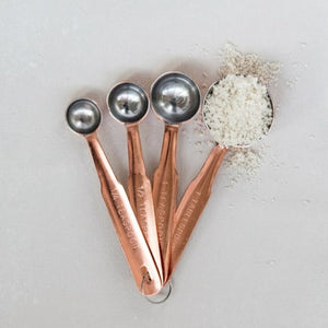 Copper Measuring Spoons Set