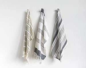 3PK Striped Towels