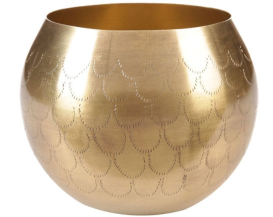 Etched Metal Bowl