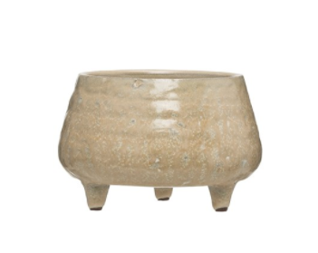 Stoneware Footed Planter