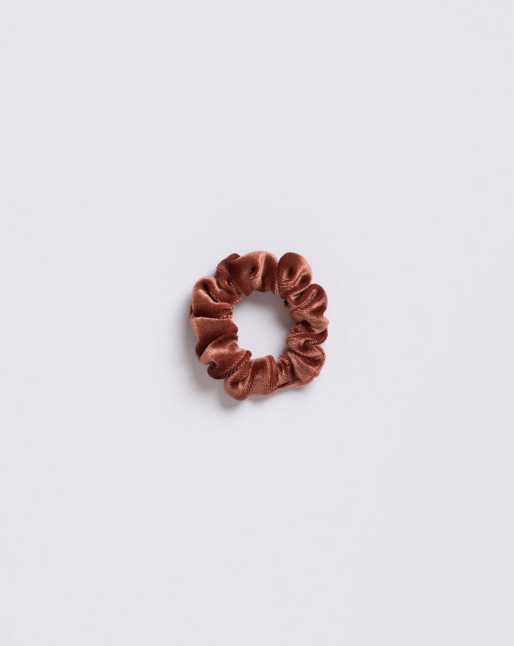 Brown Mini Velvet Scrunchie