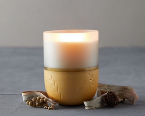 Illume Winter White Frosted Glass Candle