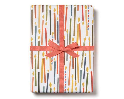 modern birthday candle gift wrap for any age
