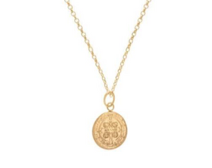 Blessing Gold Charm Necklace- 16""