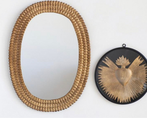 Oval Embossed Wall Mirror