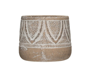 Embossed Terra-cotta Planter