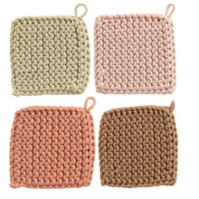 Load image into Gallery viewer, Beige, Light Pink, Dark Pink,Brown crochet pot holders