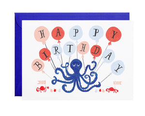 Eight Balloons Greeting Card