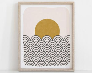 Wall Art Print Sun & Waves